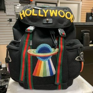 Gucci Embroidery UFO Hollywood Mesh Bag Backpack